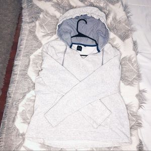 Saks Fifth Ave BLUE Hooded Gray Sweater